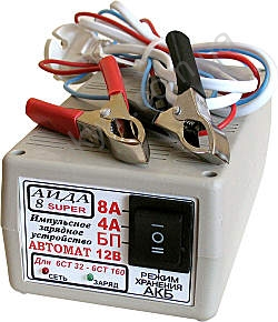 Зарядное устройство для автомобильного аккумулятора АИДАм 8 супер.